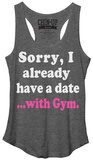Juniors Tank Top: I Got A Date Womens Tank Tops