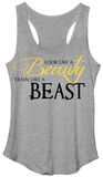Juniors Tank Top: Beauty Looks & Beast Training T-shirts