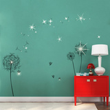 Dandelion with Swarovski Accents Wallstickers