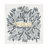 Merde – Black and Gold Lámina giclée por Cat Coquillette