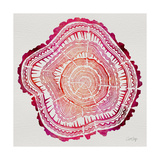 Tree Rings in Pink Giclee Print by Cat Coquillette