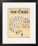 The New Yorker Cover - March 12, 1984 Art Print by Jean-Jacques Sempé