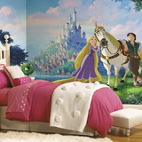 Disney Princess Tangled XL Chair Rail Prepasted Mural Wallpaper Mural