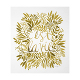 C'est La Vie in Gold Giclee Print by Cat Coquillette