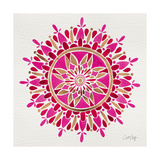 Mandala in Pink and Gold Giclée-tryk af Cat Coquillette