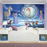 Disney Princess Cinderella Carriage XL Chair Rail Prepasted Mural Wallpaper Mural