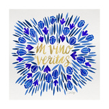 In Vino Veritas - Navy and Gold Palette Giclee Print by Cat Coquillette
