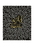 Wild at Heart - Black and Gold Palette Giclee Print by Cat Coquillette
