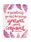 Ignorance and Confidence - Pink – Cat Coqullette Giclee Print by Cat Coquillette