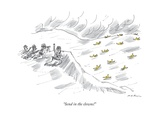 """Send in the clowns!"" - New Yorker Cartoon Premium Giclee Print by Michael Maslin"