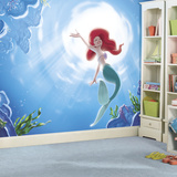 Disney Princess The Little Mermaid Part Of Your World XL Chair Rail Prepasted Mural Wallpaper Mural