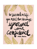 Ignorance and Confidence - Gold and Blush – Cat Coqullette Giclee Print by Cat Coquillette