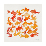 Goldfish Giclee Print by Cat Coquillette