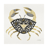 BlackGold-Crab-Artprint Giclee Print by Cat Coquillette