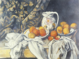 Still Life with a Curtain, c.1895 Giclee Print by Paul Cezanne