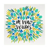 In Vino Veritas - Yellow and Blue Palette Giclee Print by Cat Coquillette