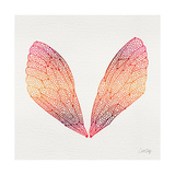 Cicada Wings in Red Ombre Ink Giclee Print by Cat Coquillette