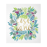 C'est La Vie in Watercolor Lámina giclée por Cat Coquillette