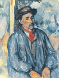Man in a Blue Smock, c.1896-97 Giclee Print by Paul Cezanne