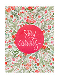 Stay Curious in Pink and Green Giclee Print by Cat Coquillette
