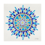 Mandala in Navy and Gold– Cat Coquillette Giclee Print by Cat Coquillette