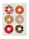 Half Dozen Donuts Giclee Print by Cat Coquillette