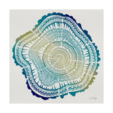 Tree Rings in Ombre Giclee Print by Cat Coquillette