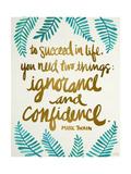 Ignorance and Confidence - Gold and Turquoise – Cat Coqullette Giclee Print by Cat Coquillette