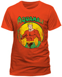 Aquaman- Heroic Pose Distressed (Slim Fit) T-shirts
