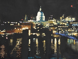 City Lights Giclee Print by Hazel Soan