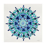 Mandala in Blue Giclee Print by Cat Coquillette