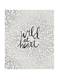 Wild at Heart - Black and Silver Palette Lámina giclée por Cat Coquillette