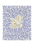 Wild at Heart - Navy and Gold Palette Lámina giclée por Cat Coquillette
