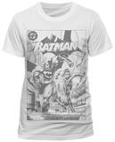 Batman- B & W Nightwing Team-Up (Slim Fit) Tričko