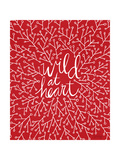 Wild at Heart - Red Palette Lámina giclée por Cat Coquillette