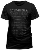 Black Veil Brides- Faithless Lyrics (Slim Fit) Shirts