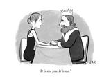 """It is not you. It is we."" - New Yorker Cartoon Premium Giclee Print by Jason Adam Katzenstein"