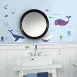 Sea Whales Peel And Stick Wall Decals Wall Decal