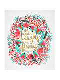 Laughs i Flowers – Pink Palette Giclee Print by Cat Coquillette