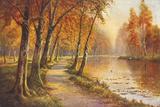 A Golden Vista Giclee Print by Daniel Sherrin