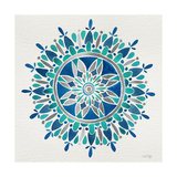 Mandala in Silver and Blue Giclee Print by Cat Coquillette