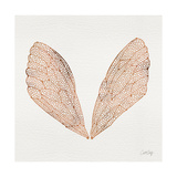 Cicada Wings in Rose Gold Ink Giclee Print by Cat Coquillette