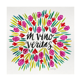 In Vino Veritas - Pink and Green Palette Giclee Print by Cat Coquillette