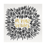 In Vino Veritas - Black and Gold Palette Giclee Print by Cat Coquillette