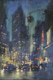 Red Light on Broadway Impression giclée par David Hinchliffe