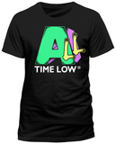 All Time Low- Block & Script Logo (Slim Fit) T-Shirt