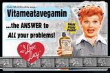 I Love Lucy- Vitameatavegamin Kunstdruck