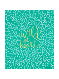 Wild at Heart - Turquoise and Gold Palette Lámina giclée por Cat Coquillette