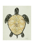 Sea Turtle in Black and Gold Giclée-tryk af Cat Coquillette