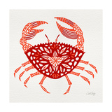 Crab in Red Giclee Print by Cat Coquillette